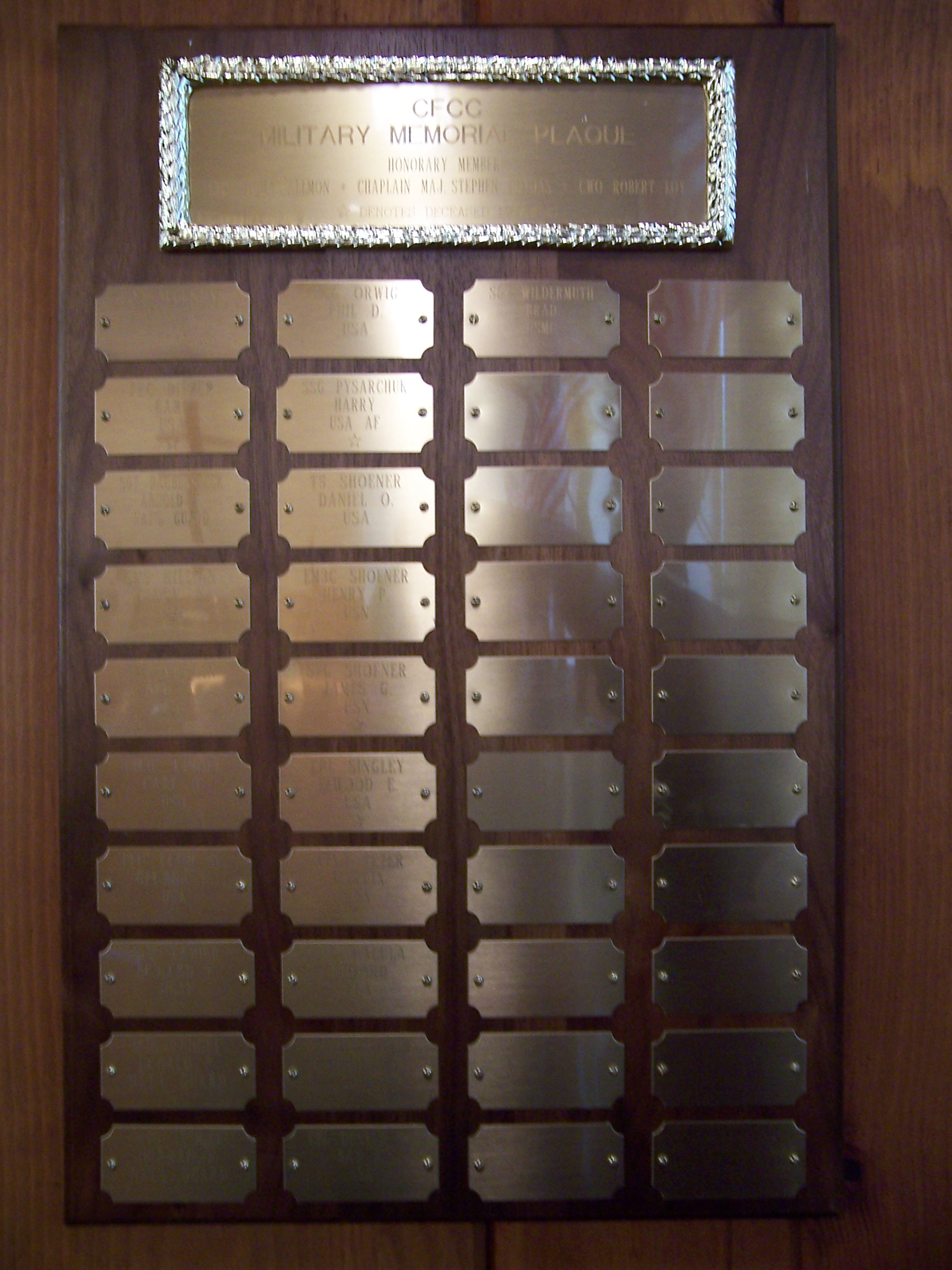 CFCC Veterans Plaque